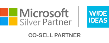 Wide Ideas as a Microsoft silver partner status badge.