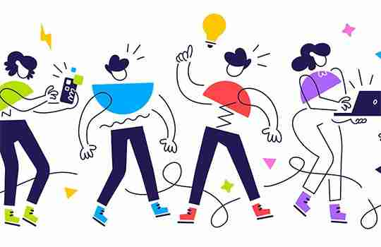 illustration of a group of individuals showing what it means to be innovative as a group