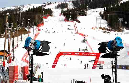 Ski slope at World Ski Championships 2019 in Åre, Sweden where team collaboration play a key role in innovation